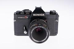 01 - 1975 Konica Autoreflex T3N (NEX69) Tags: 1975 konicaautoreflext3n black schwarz kleinbildkamerach classiccamera