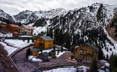 Shymbulak (free3yourmind) Tags: shymbulak ski resort almaty kazakhstan wooden houses mountains snow peak trees picturesque alps