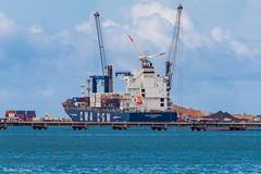 Fortaleza (alcirgomesadv) Tags: canon t6 eos rebel night sea beach fortaleza ceará cma cgm comex container cargo ship vessel brazil brasil
