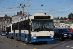 2014-11-19, Luzern, Seebrücke (Fototak) Tags: trolleybus filobus obus remorque beiwagen hess naw switzerland luzern ligne1 279 vbl