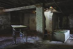 Basement Dweller (jgurbisz) Tags: jgurbisz vacantnewjerseycom abandoned ma massachusetts westboroughstatehospital westborough asylum gurney basement adventure explore