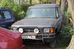 1989 Land Rover (doojohn701) Tags: grey retro classic 4x4 coventry neglect dust vegetation trees reflection dirt threedoor diesel laidup abandoned sidcup landrover uk