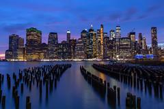 New York (dshoning) Tags: newyork night lights water pilings view