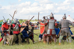 Fight (petr.petrov) Tags: rural scene field summer sun festival show live event fun traditional historical humor russia historic cultural culture traditions russian warrior fight fighting