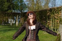 01 Elfia Haarzuilens (Roger-Kersten) Tags: elfia haarzuilens elfiahaarzuilens steampunk frau women zylinder cylinder hut cap