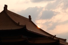 Sunset over National Concert Hall (theq629) Tags: taiwan taipei roof sun sunset libertysquare