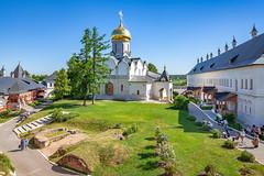 Savino-Storozhevsky Monastery (Zvenigorod, Russia) (KonstEv) Tags: church cathedral orthodox russia monastery zvenigorod yard dome cross building architecture