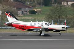 Socata TBM.930 HB-KRJ - Edinburgh Airport 18/4/19 (robert_pittuck) Tags: socata tbm930 hbkrj edinburgh airport 18419