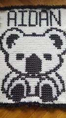 Koala blanket for Aidan (dochol) Tags: koala bear cute crochet croche handmade haakwerk hakeln haakenwert handcrafted haak homemade crochethook yarn wool graph chart babyname bebe blanket babyblanket afghan manta personalised alphabet