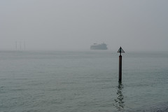 Misty Solent-F4170747 (tony.rummery) Tags: channel em5mkii fort mft microfourthirds mist omd olympus portsmouth post solent southcoast southsea england unitedkingdom