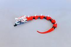 Lego Bionicle MOC - Red Dragon (makushima) Tags: lego bionicle moc red dragon toy