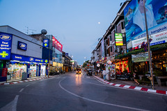 Street in City of Chiangmai (explore) (Thanathip Moolvong) Tags: mueangchiangmai chiangmai thailand street city evening