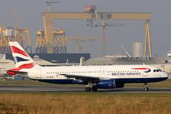 G-EUYA (GH@BHD) Tags: geuya airbus a320 a320200 a320232 ba baw britishairways unionflag shuttle speedbird bhd egac belfastcityairport aircraft aviation airliner