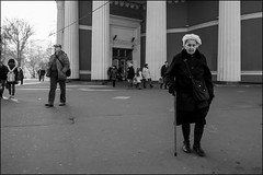 DR151107_1610D (dmitryzhkov) Tags: urban city everyday public place outdoor life human social stranger documentary photojournalism candid street dmitryryzhkov moscow russia streetphotography people man mankind humanity bw blackandwhite monochrome