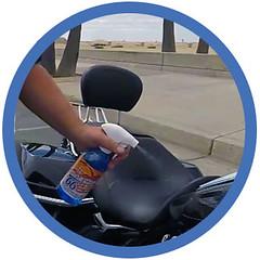 bikewash_waterless_shinykings_spray1 (shinykings) Tags: motorcycle cleaning towel waterless car wash wax kit
