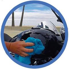bikewash_waterless_shinykings_dry1 (shinykings) Tags: motorcycle cleaning towel waterless car wash wax kit
