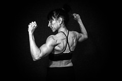 back pose (ABWphoto!) Tags: usa virginia one female bodybuilder muscles humanmuscles blackandwhitepose athletic back pose healthylifestyle indoors