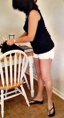 going shopping (lyndawaybi3) Tags: hot sexy brunette babe mature married wife mom milf hotwife lynda legs feet toes toe ring anklet ankle bracelet short shorts rack
