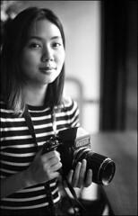 img618 (Jurgen Estanislao) Tags: anezka chua black white monochrome vintage film potrait nikon sp nikkors 50mm f14 kodak 400tx hc110 g jurgen estanislao