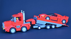 Hybrid Truck 07 (_TLG_) Tags: lego moc duplo truck trailer red car speed champions 6 stud lorry studless transporter 6stud