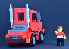 Hybrid Truck 02 (_TLG_) Tags: lego moc duplo truck trailer red car speed champions 6 stud lorry studless transporter 6stud