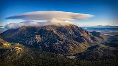 Granite Mountain-0982-Pano (Michael-Wilson) Tags: granitemountain michaelwilson clouds mountain aerial drone pano panorama prescott arizona southwest dawn lake dji prescottnationalforest granitebasinlake forest hike hiking