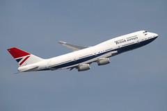 G-CIVB (Ian.Older) Tags: british airways 747 jumbo 747436 heathrow feltham park topside aircraft airliner ba100 civil aviation gcivb