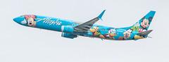 Alaska Airlines Aircraft with Disneyland Theme (gourab66) Tags: alaskaairlines aircraft planespotting canon canon80d canonef100400mmf4556lisiiusm travel seattle washington seatac seattletacomainternationalairport disneyland
