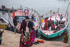 Colorful Pilgrims (shapeshift) Tags: in asia benaras boats davidpham davidphamsf documentary ganges gangesriver ghat ghatsofindia india people pilgims river shapeshift southasia streetphotography travel uttarpradesh varanasi water waterfront