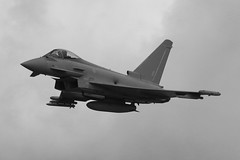 RAF Typhoon ZK351 (Richard Brothwell) Tags: monochrome bw blackwhite zk351 raf typhoon coningsby lincolnshire rafconingsby aircraft sigma150500mmf563dgoshsm jets military planes