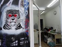 Work (Jeanne Menjoulet) Tags: ruedenoyez paris belleville streetart atelier confection tiger tigre workshop