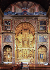 In the Sanctuary - Madeira (Gene Mordaunt) Tags: churchofstjohntheevangelist madeira nikon810 portugal architecture church ornate painting sanctuary
