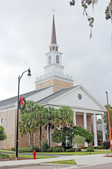 Morrison United Methodist Church, Leesburg (StevenM_61) Tags: architecture church methodistchurch neoclassical steeple palmtrees leesburg florida unitedstates
