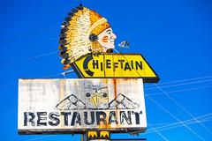 Hey Chief, What's Up? (Thomas Hawk) Tags: america chieftain chieftainrestaurant tacoma usa unitedstates unitedstatesofamerica washington washingtonstate indian neon restaurant fav10 fav25