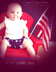 Patriotic (keepinitrealcreations) Tags: maddiesummerpics 4thofjuly baby summer usa nc merica cute photo photography photoshoot