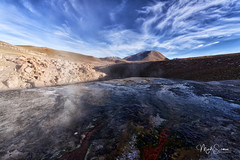 The sky, the earth and the underworld (marko.erman) Tags: eltatio southamerica latinamerica andes chile geothermal water geyser volcanoes steam vapour sunny mountains highaltitude sony nature sunrise earlymorning outside outdoor travel beautiful quiet peaceful serene serenity atacama