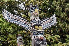 Stanley Park Totem-poles (gecko47) Tags: totempoles artefacts cultural firstnations indigenous timber cedar painted characters creatures mythsandlegends tourism stanleypark brocktonpoint eagleseabear heritage visuallanguage