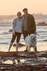 IMG_7932 (armadil) Tags: mavericks beach beaches californiabeaches us usatsunset dog whitedog pyreneesdog