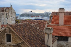 Rooftop cruise (sfryers) Tags: harbour port historic city rooftops skyline vikingsun ship cruiseliner split dalmatia croatia hrvatska smc pentaxfa 35mm 12