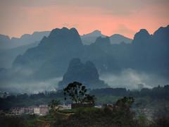 Limestone hill sunset (MelindaChan ^..^) Tags: qingyuan china 清遠 黃花鎮 limestone hill chanmelmel mel melinda melindachan nature rural village countryside sunset evening dusk