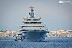 Flying Fox - 136m - Lurssen (Raphaël Belly Photography) Tags: rb raphaël monaco raphael belly photographie photography yacht boat bateau superyacht my yachts ship ships vessel vessels sea motor mer m meters meter flying fox ff shu project 136m 136 lurssen white blanc bianco bianca grey gris grise grigio imo 9829394 mmsi 319133800