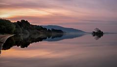 Loch Sunrise (jasty78) Tags: lochleven island sun sunrise gold golden goldenhour landscape light reflection glow hill loch lake sky water outside nature kinross scotland nikond810 1635mm 35mm nikkor1635mm nikkor1635mmf4