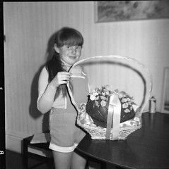 Happy Easter Oester from Photo's by Alf Jefferies (Photos by Alf Jefferies) Tags: easter egg basket lynn grandma evelyn may photos by alf jefferies 1970s bw original negatives happy memories