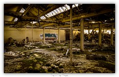 Pb_4180009 (calpha19) Tags: imagesvoyagesphotography adobephotoshoplightroom olympusomdem1mkii zuiko ed1260swd usine textile grangessurvologne vosges grandest flickrsexplore explore intérieur extérieur ruines incendie