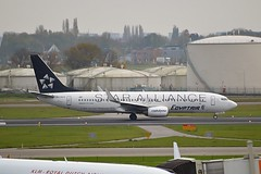 """Egyptair SU-GCS Boeing 737-866 Winglets cn/35563-2695 Painted in """"Star Alliance"""" special colours @ EHAM / AMS 08-11-2015 (Nabil Molinari Photography) Tags: egyptair sugcs boeing 737866 winglets cn355632695 painted staralliance special colours eham ams 08112015"""