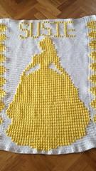 Princess Belle blanket for Susie Belle (dochol) Tags: disneyprincess princess belle beautythebeast cute craft crochet croche personalised babyname name alphabet handmade haakwerk hakeln haakenwert handcrafted haak graph chart babyblanket blanket manta afghan wool yarn crochethook tejer