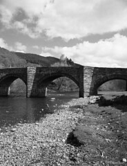 Carrog Bridge (pfh2010) Tags: film blackwhite 120 contax 645 agfa apx 100
