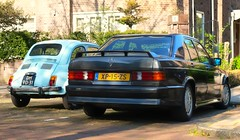 Fiat 500 Nuova / Mercedes-Benz 190E 2.3-16V Cosworth (Skylark92) Tags: nederland netherlands holland northholland noordholland amsterdam zuid south mercedes benz 190 e 190e 16v cosworth xp15zs 1985 23 2316v fiat 500 nuova dh9031 1968