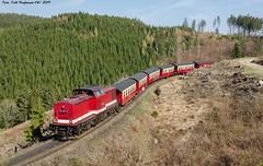 199 861 HSB Drängetal 20.04.2019 (Falk Hoffmann) Tags: diesellok eisenbahn bahnhof reisezug reichsbahn dr hsb kanne harzkamel br199