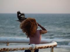 Птица (unicorn7unicorn) Tags: море набережная девушка птица волосы spotlight
